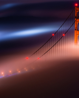The Golden Gate Bridge and the Fog