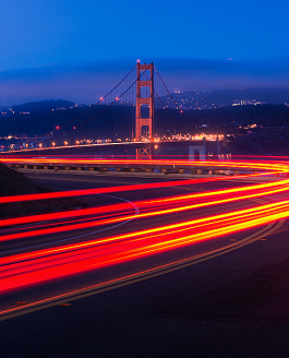 Light Trails and the Golden Gate Bridge