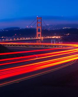Light Trails and the Golden Gate Bridge