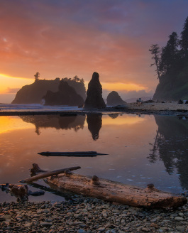 Ruby Beach for Sunset, Olympic National Park
